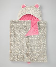 Take a look at this SL Fashions Hot Pink Cheetah Hooded Blanket on zulily today!