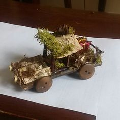 Cool item: Fairy garden pick up truck with the pr.