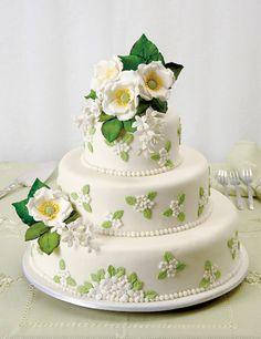 Dort marcipánový * svatební - zdobený zdobený šípkovými růžemi ♥♥♥