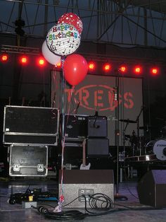 The balloons we brought for Colin. Colin MacDonald of the Trews' birthday celebrations, May 31/13, Lewiston, NY.