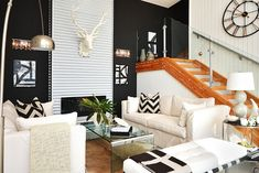 Interior Design For Spring ---  All things Metallic -- hard to miss the metallic accents in this room