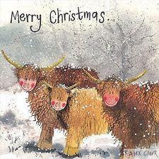 Highland Christmas Cards | ... CLARK CHARITY CHRISTMAS CARD PACK HIGHLAND HERD / 5 x COW XMAS CARDS