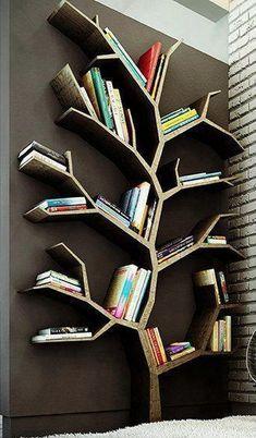 new ideas kids room walls shelves tree bookshelf Tree Bookshelf, Unique Bookshelves, Tree Shelf, Book Shelves, Bookshelf Ideas, Bookshelf Design, Bookshelves For Kids, Handmade Bookshelves, Diy Bookshelf Wall