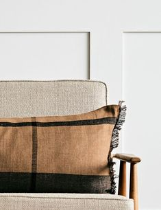 Ferm Living Dry Cushion - Rectangular Home Accessories Stores, Cosy Night In, Room Interior, Linen Fabric, Interior Inspiration, Decorative Accessories, Armchair, Cushions, Sofa