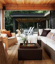 Interior: Sleek modern cottage