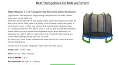 best trampolines for kids & toddlers on review!   Looking for best Christmas present? This is it!