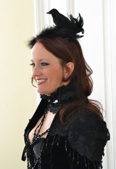 Gothic-Fascinator-Headpiece-Märchen