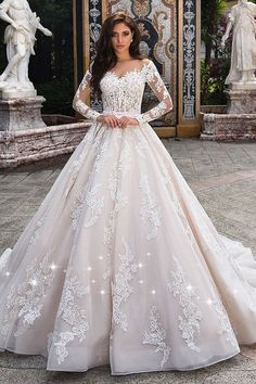 Fabulous Tulle Sheer Bateau Neckline See-through Bodice A-line Wedding Dress  With Lace b06d272697bb