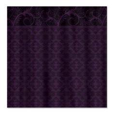 Royal Purple #Damask Shower Curtain  Elegant and royal purple colored damask pattern with floral embellishment border.    $46.79 #homedecor #bath