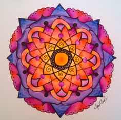 Watercolor Mandala - 2/24/14 by jen marsh