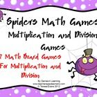 Spiders Math Games Multiplication and Division from Games 4 Learning is a collection of 7 Math Board Games with a Spiders theme.   These spider the...