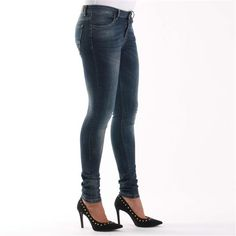 Jeans Pelelope Age, high skinny waist, lavaggio deep stone washed disty - € 49,90 | Nico.it