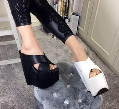 Womens Fashion Slide Slip On Mules Summer Shoe Wedge Platform Sandal Slippers Super explosion