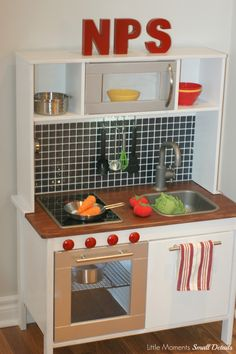 Wooden Play Kitchen Ikea a play kitchen makeover that will make your real kitchen jealous