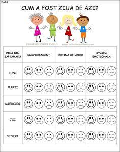 Cum a fost ziua de azi? Montessori Activities, Therapy Activities, Educational Activities, Activities For Kids, Kids Poems, Good Tutorials, Worksheets For Kids, Kids Education, Kids And Parenting