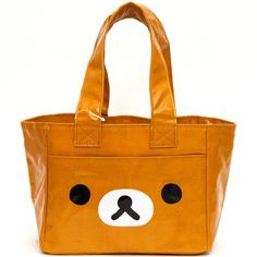 brown Rilakkuma bear face lunch bag - Lunch Bags - Bags - Accessories - kawaii shop modeS4u