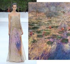 Akris spring 2009 and Claude Monet's Water Lilies.