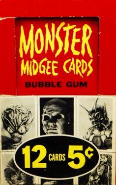 Monstrum hominis — 1963 Topps Monster Midgee trading cards