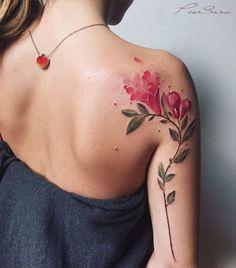 este_brilhante_rom_ramo_aquarela_tatuagem