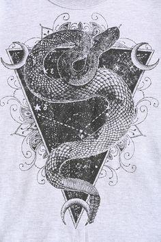 Black Moon Snake Feather Pullover Sweatshirt
