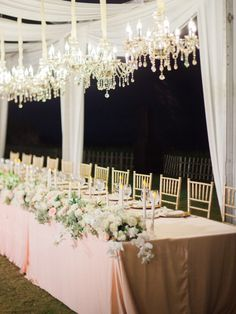 Pink and White Glamorous Bridal Tablescape