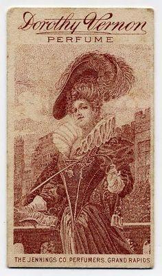 Dorothy Vernon Perfume advertising calendar 1909-1910