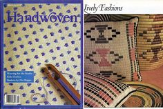 Handwoven / Weaving for the Studio Magazine and Pattern Book March/April 1993…