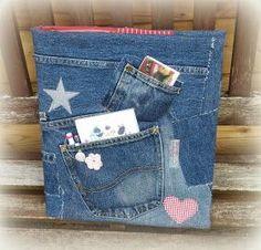Mein Fachwerkhäuschen: Spontane Jeans-Reste Verwertung