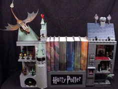 Harry Potter Bookends 23 by Garth Danielson, via Flickr  I HAVE TO HAVE!