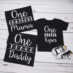 7f0d7148b Custom Matching Family Shirts for 1st Birthday, Baby Boy First Birthday  Outfit, Mom, Dad, Sister, Brother, T Shirt Dad and Baby Matching One