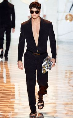 Versace SS 2015 Black Jumpsuit