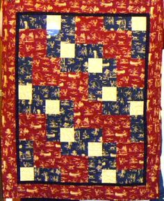 A quilt for a loved camping enthusiast.