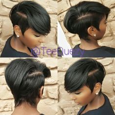 Great Short Hairstyles for Black Women – My hair and beauty Black Girls Hairstyles, Unique Hairstyles, Hairstyles 2016, Ladies Hairstyles, Beautiful Hairstyles, Popular Hairstyles, Black Hair Short Hairstyles, Ponytails For Black Hair, Long Haircuts