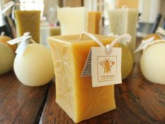 These are the best candles ever!  100% pure beeswax, burn cleaner and longer.  These are so gorgeous, you might not want to burn them!
