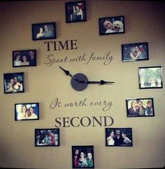 Picture Clock. Yes i would love to put this on my living room wall. Jennifer Johnson.