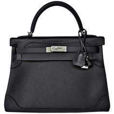 Pre-owned Hermes Black Ghillies Limited Edition 32cm Kelly Togo Swift... (.  Hermes Handbags · Hermes Bags · Shoulder Handbags ... 466abef5d2cd2