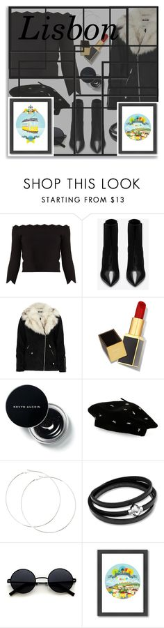 """""""Visit LISBON This Winter"""" by hmytran ❤ liked on Polyvore featuring Alexander McQueen, Yves Saint Laurent, River Island, Tom Ford, Steve Madden, Americanflat, black, portugal, lisbon and outfitsfortravel"""