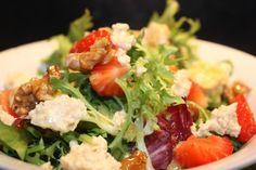 Post image for Vegan Feta, Strawberry and Agave Glazed Walnut Salad (with feta recipe)