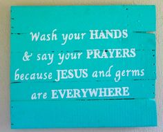Wash Your Hands  Wood Sign Pallet Art Shabby by LoveAndLuckByAli