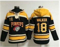 Pittsburgh Pirates #18 Neil Walker Black Sawyer Hooded Sweatshirt MLB Hoodie