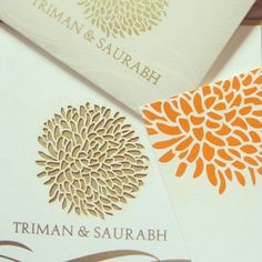 Custom laser cut Indian and traditional weddibg invitations!  #personalised #custom #design #invitations #invites #cards #weddingsutra #weddingcards #wedding #indian #ethnic #weddingdesign #traditional #lasercut #floral #patterns #gold #bling #colour #mumbai #2013
