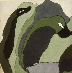 Arthur Dove, Untitled (Composition in Grey and Green), c. 1930 ●彡 Abstract Painters, Abstract Landscape, Abstract Art, Animal Vegetable Mineral, Funny Bird Pictures, Arthur Dove, Funny Birds, Watercolor Techniques, Early American