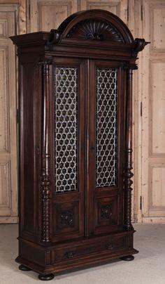 Antique Henri II Walnut Bookcase | Antique Furniture | Inessa Stewart's Antiques #antique #french #furniture