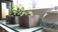 Betonowe doniczki - Klinika DIY
