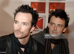 Scott Weiland and Donovan Leitch during Saturn Rocks Times Square - Arrivals at Hard Rock Cafe in New York City, New York, United States. Velvet Revolver, Scott Weiland, Stone Temple Pilots, In Loving Memory, Hard Rock, Times Square, Star, American, Rocks
