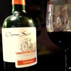 Cono Sur Carménère 2007  Um vinho leve, delicado e fácil de beber, com taninos e acidez médios é um vinho que acompanha bem comidas leves. Sua cor é vermelho Rubi e possui média persistência em boca. Aroma frutado com presença de aroma de frutas vermelhas.