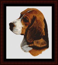 Cross Stitch Collectibles - Detail1 - RM-13 - Beagle - All cross stitch patterns - - Animals - Dogs - Robert J. May - Cross Stitch Collectibles