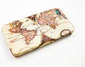Vintage Old Retro World Map iPhone 5 Case, iPhone 5 Cover, Hard iPhone 5 Case. $18.00, via Etsy.