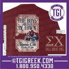 TGI Greek - Sigma Chi - Fraternity Recruitment - Greek T-shirts - Bid Day #tgigreek #sigmachi #bidday