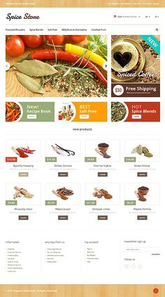 'Spice Store' #Magento #Template #webdesign 46181 http://zign.nl/46181